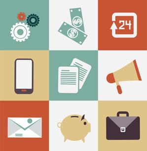 set of business icons illustrationのイラスト素材 [FYI03066334]