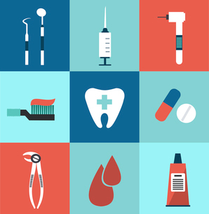 Icons dentist illustrationのイラスト素材 [FYI03066340]