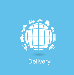 Delivery icon. Flat modern style vector designのイラスト素材 [FYI03066388]