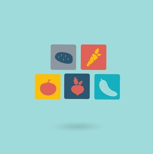 vegetables icon. Flat modern style vector designのイラスト素材 [FYI03066399]