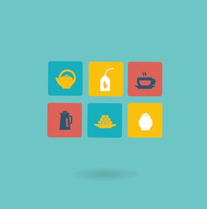 tea icon. Flat modern style vector designのイラスト素材 [FYI03066402]
