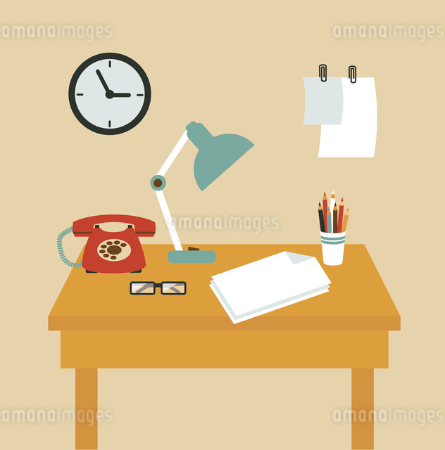 Secretary Desk illustrationのイラスト素材 [FYI03066411]