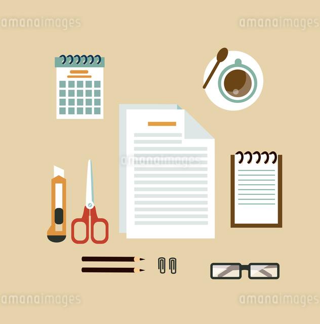 Secretary Desk illustrationのイラスト素材 [FYI03066415]