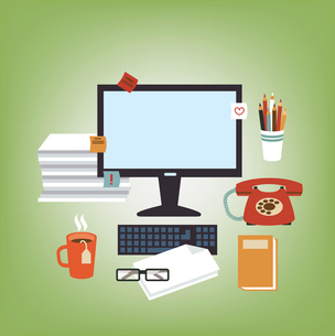 Secretary Deskのイラスト素材 [FYI03066416]