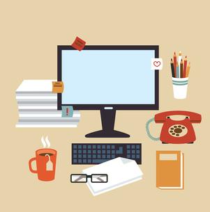 Secretary Desk illustrationのイラスト素材 [FYI03066417]