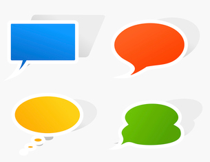 Conversation cloud3. Set of icons of clouds for conversation. A vector illustrationのイラスト素材 [FYI03066460]