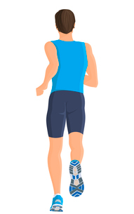 Male running full length body of healthy lifestyle isolated on white background vector illustrationのイラスト素材 [FYI03066619]