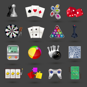 Game sport and gambling casino icons set isolated vector illustrationのイラスト素材 [FYI03066850]