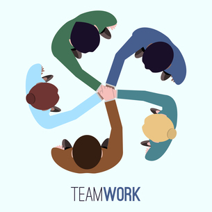 Business team teamwork concept top view people vector illustrationのイラスト素材 [FYI03066899]