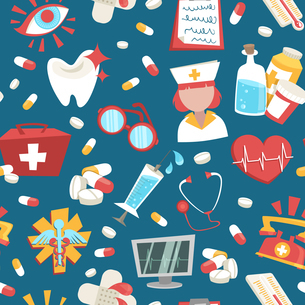 Hospital medical health care emergency support seamless pattern vector illustrationのイラスト素材 [FYI03067129]