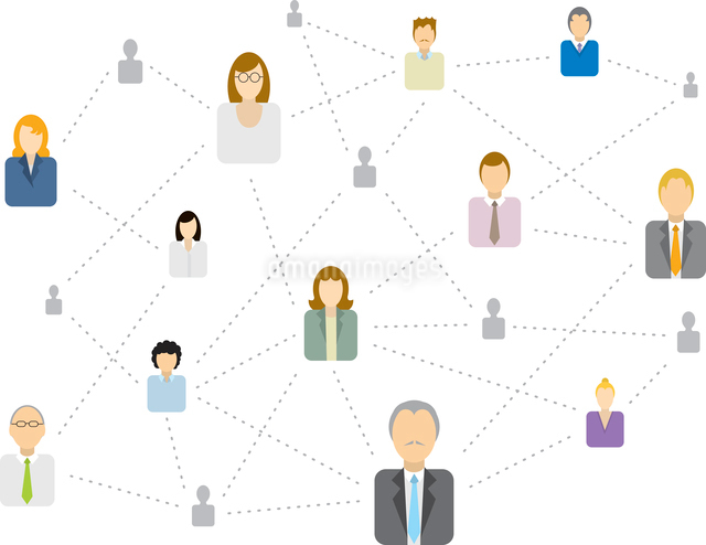 Complex Social network/ Business connectingのイラスト素材 [FYI03067658]