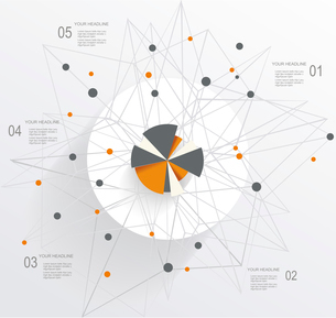 Abstract Mesh Background with circle infographicsのイラスト素材 [FYI03067702]