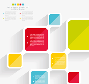 Vector brochure template design with cubes and squares elements.のイラスト素材 [FYI03067705]