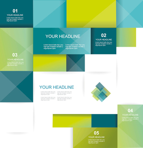 Vector brochure template design with cubes and squares elements.のイラスト素材 [FYI03067709]