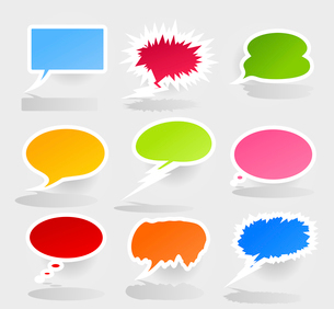 Conversation cloud2. Set of icons of clouds for conversation. A vector illustrationのイラスト素材 [FYI03067730]