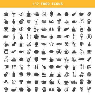 Collection of icons of food and ware. A vector illustrationのイラスト素材 [FYI03067733]