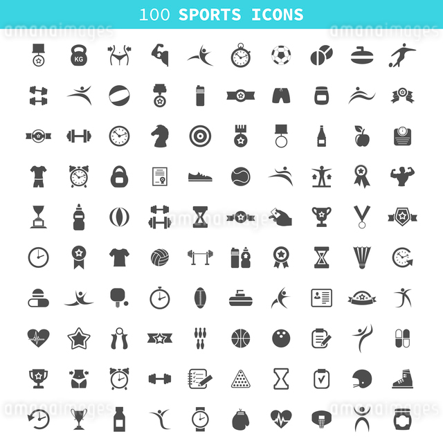 Collection of icons sports. A vector illustrationのイラスト素材 [FYI03067739]