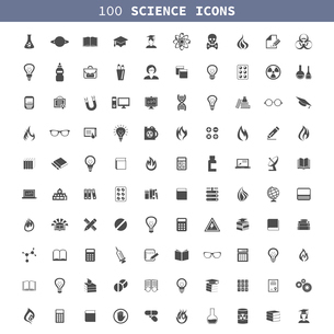 Collection of icons a science. A vector illustrationのイラスト素材 [FYI03067740]