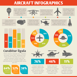Aircraft military and passenger aviation air tourism infographic vector illustrationのイラスト素材 [FYI03067769]