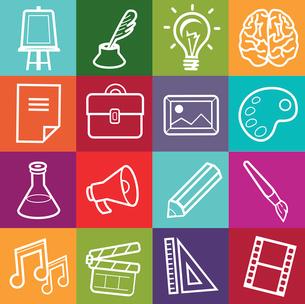 Vector set of creative icons - design elements for portfolioのイラスト素材 [FYI03067915]