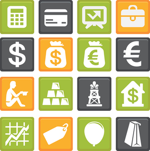 vector set with business and finance iconsのイラスト素材 [FYI03067927]