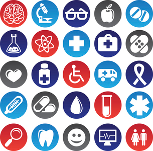 Vector medical icons and signsのイラスト素材 [FYI03067935]