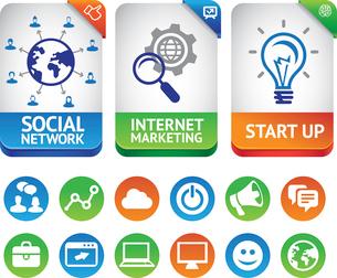 Vector internet marketing labelsのイラスト素材 [FYI03067940]