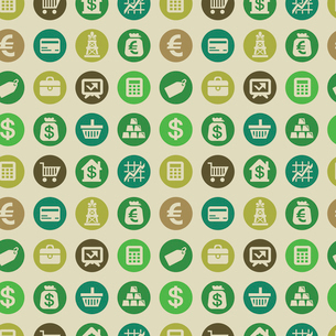 Vector seamless pattern with finance iconsのイラスト素材 [FYI03067943]