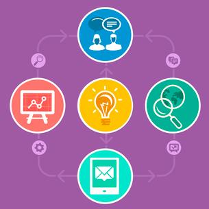 Vector internet marketing strategyのイラスト素材 [FYI03067950]