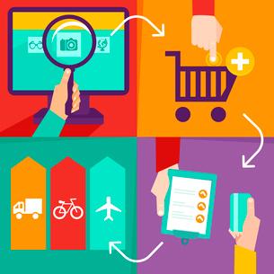Vector internet shopping infographicsのイラスト素材 [FYI03067954]