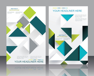 Vector brochure template design with cubes and arrows elements.のイラスト素材 [FYI03067983]