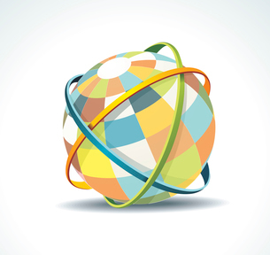 Abstract globe symbol internet and social network concept. Isolated vector icon.のイラスト素材 [FYI03068102]