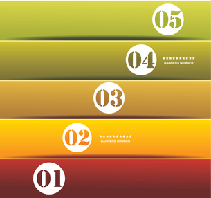 Design template numbered banners.のイラスト素材 [FYI03068145]