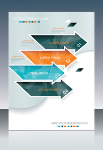 Vector brochure template design with cubes and arrows elements.のイラスト素材 [FYI03068207]