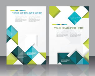 Vector  brochure template design with cubes and arrows elements.のイラスト素材 [FYI03068212]