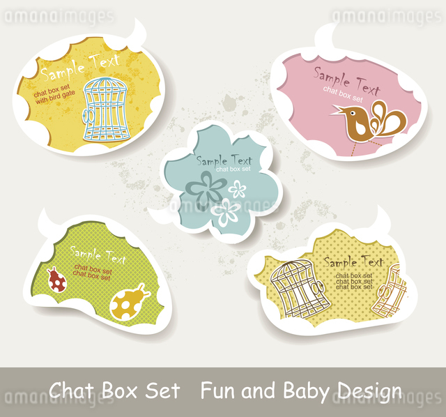 Vector Idea Bulbs. Baby Chat Bubblesのイラスト素材 [FYI03068255]