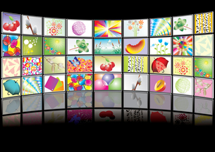 multimedia center presentationのイラスト素材 [FYI03068257]