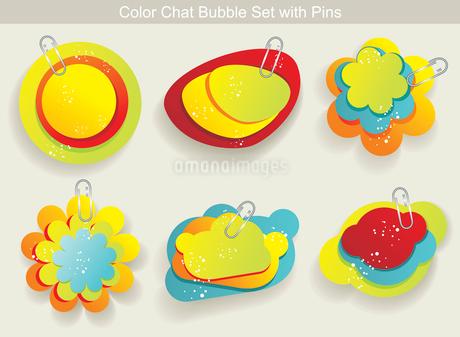 Vector Idea Bulbs. Chat Bubblesのイラスト素材 [FYI03068310]