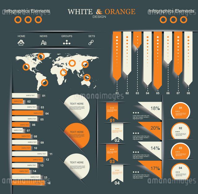 Retro infographics set.のイラスト素材 [FYI03068346]