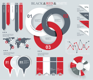 Modern Design template for infographics numbered banners graphic or website layout vectorのイラスト素材 [FYI03068347]