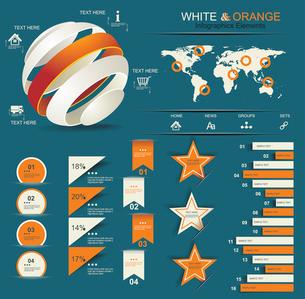 Retro infographics set.のイラスト素材 [FYI03068351]