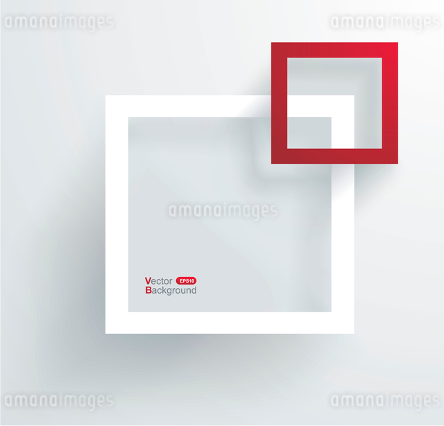 White and red frames on the wall.のイラスト素材 [FYI03068363]