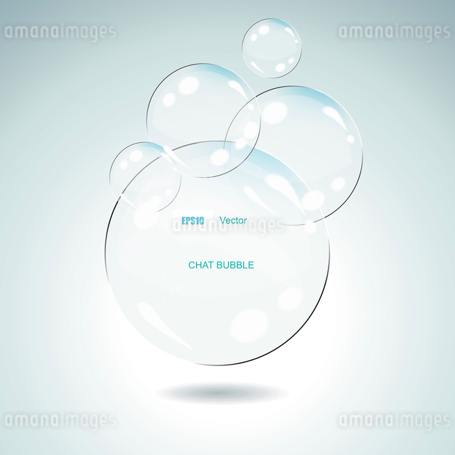Vector Idea Bulbs. Glass Chat Bubblesのイラスト素材 [FYI03068378]