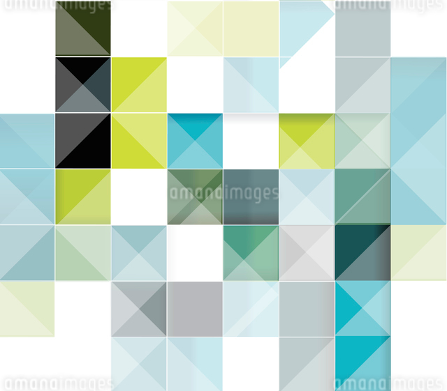 Vector abstract squares background illustrationのイラスト素材 [FYI03068390]
