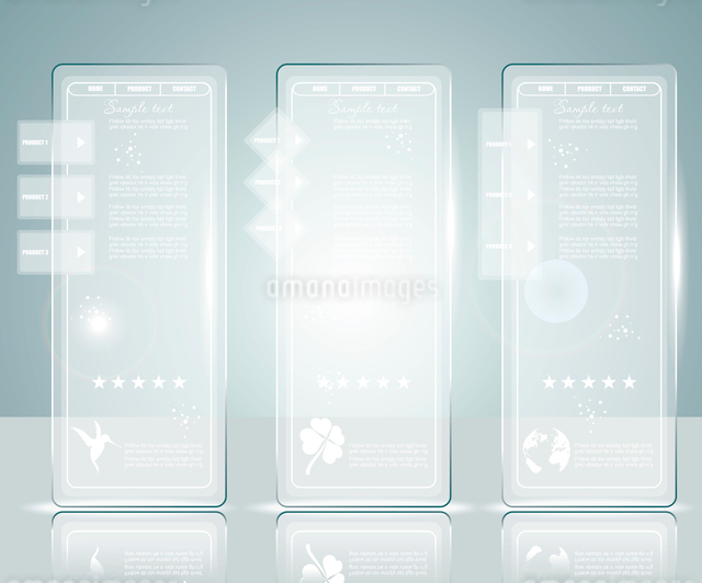 Glass background. Transparent glass plates. Vector illustration. Eps10. Suitable for infographics, gのイラスト素材 [FYI03068391]