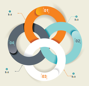 Business Abstract Circle icon. Corporate, Media, Technology styles vector logo design template.のイラスト素材 [FYI03068426]