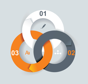 Business Abstract Circle icon. Corporate, Media, Technology styles vector logo design template.のイラスト素材 [FYI03068427]
