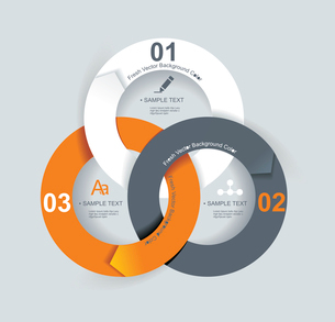 Business Abstract Circle icon. Corporate, Media, Technology styles vector logo design template.のイラスト素材 [FYI03068429]