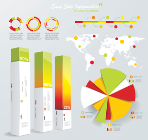 Modern infographics set. World Map and Information Graphics. Vectorのイラスト素材 [FYI03068448]
