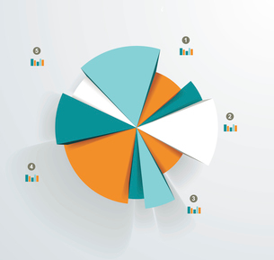 Business pie chart for documents and reports for documents, reports, graph, infographic, business plのイラスト素材 [FYI03068453]